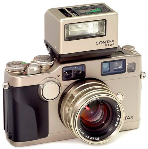Contax with TLA-200 Flash