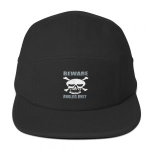 Beware Embroidered Five Panel Cap