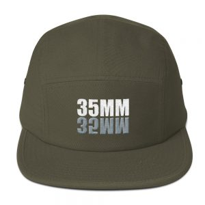 35MM Embroidered Five Panel Cap
