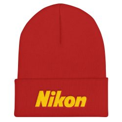 Nikon Flat Embroidered Beanie